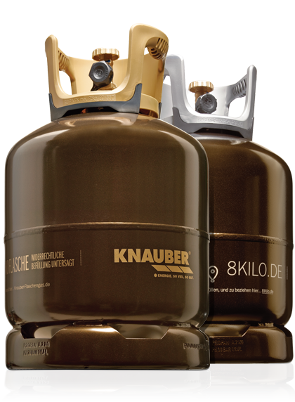 8 kilo gasflasche zum grillen in neuem design von knauber gas. Black Bedroom Furniture Sets. Home Design Ideas